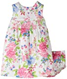511rxtR7hhL. SL160  Hartstrings Baby Girls Newborn Floral Printed Cotton Sateen Dress And Diaper Cover Set, Pink Multi Floral, 18 Months