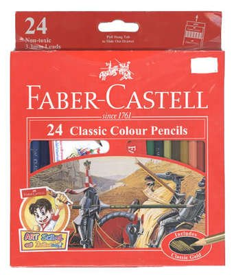 Amazon.com : 1 Box Classic Faber Castell Colored 24 Colors Pencils ...