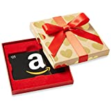 Amazon.ca $25 Gift Card in a Gold Hearts Box (Classic Black Card Design)