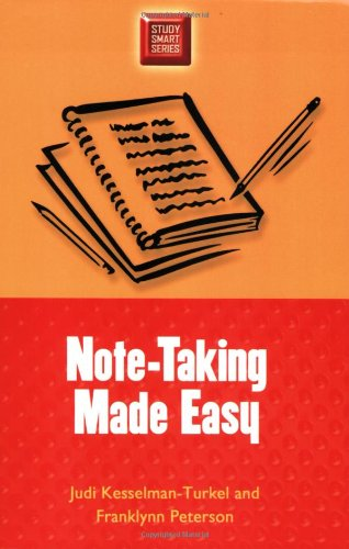 Note-Taking Made Easy (Study Smart Series)