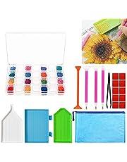Sunshine smile 64 Diamond Painting Box, 5D Diamond Borduurwerk Sorteerdoos, Assortimentdoos, sorteerdozen, Gereedschapscontainer, Plastic opbergdoos met deksel, Sieradendoos!
