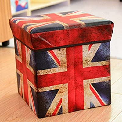 Vellora Fashion Plegable Asiento Taburete de almacenaje Caja de plástico y cartón Caja Plegable Caja Tapa Caja Almacenamiento reposapiés Espacio: Amazon.es: Hogar