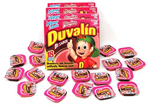Duvalin Hazelnut/strawberry soft candy (4 Pack - 72 - Vanilla Candy Duvalin