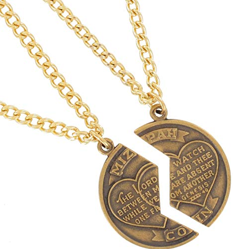 Necklace Bff Set New Mizpah Coin Best Friends Genesis Pendant Gold Tone Necklace For Women