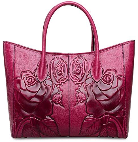 f963c05ea2 PIJUSHI Floral Purse Designer Leather Handbags Shoulder Bags For Women 65307
