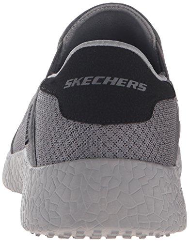Skechers Sport M�nner Burst Just In Time Fashion Sneaker, Holzkohle