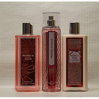 Bath & Body Works ~ Signature Collection ~ WRAPPED IN SUGAR ~ Shower Gel ~ Fine Fragrance Mist & Body Lotion ~ Trio Gift Set (Wrapped In Sugar Bath And Body Works)