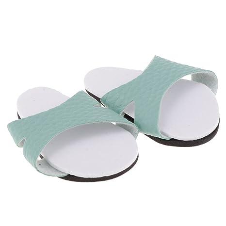 Homyl Zapatos Elegantes De Las Zapatillas Verdes para 18inch American Girl My Life Dolls Accesorio De