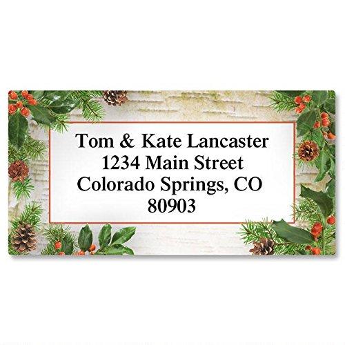 Woodland Whimsy Christmas Return Address Labels- Set of 144, Large Self-Adhesive, Flat-Sheet Labels, by Colorful Images Christmas Address Labels And Seals