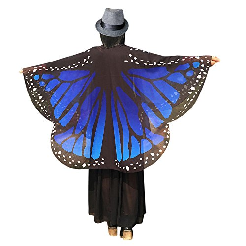 iQKA Adult Soft Butterfly Wings Adult Costume Accessory(AP,one Size)