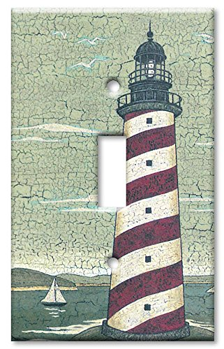 Electric Lighthouse (Single Gang Toggle Wall Plate - Cape Lighthouse)