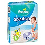 Pampers Splashers Swim Diapers Disposable Swim Pants, Large, Size 5 (> 31 lb), 17 Count (Pack of 2)
