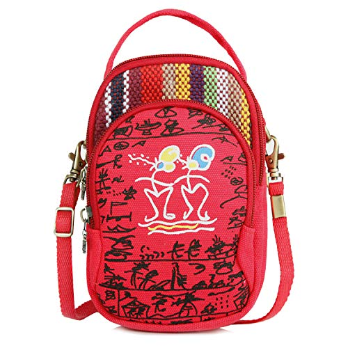 Cute Crossbody Women Bag Purse Cell phone Embroidered Coin for Mini Pouch Vintage Small bag Red wallet Handbags C2 4S5BAxnxt