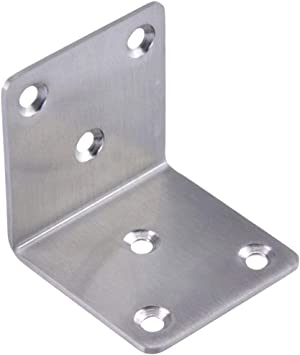 Corner Brace Bracket Stainless Steel 90 Degree Right Angle L Shape Support Joint