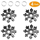 Snowflake Multi-Tool Stainless Steel Snowflake Keychain Tool Snowflake Screwdriver Tactical Tool for Outdoor Camping