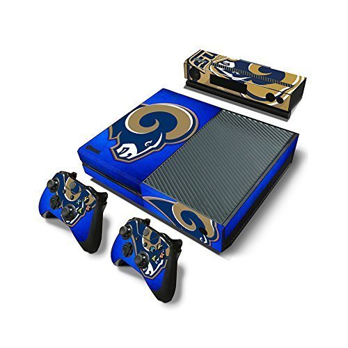 Microsoft Xbox One Skin Decal Sticker Set - NFL St.Louis Rams (1 Console Sticker + 2 Controller Stickers + 1 Kinect Sensor -