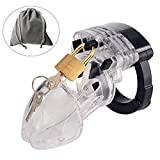 Male Briefs Comfortable device, transparent Plasitc Cage Desig Chastit_y, Not Silicone & Alloy material