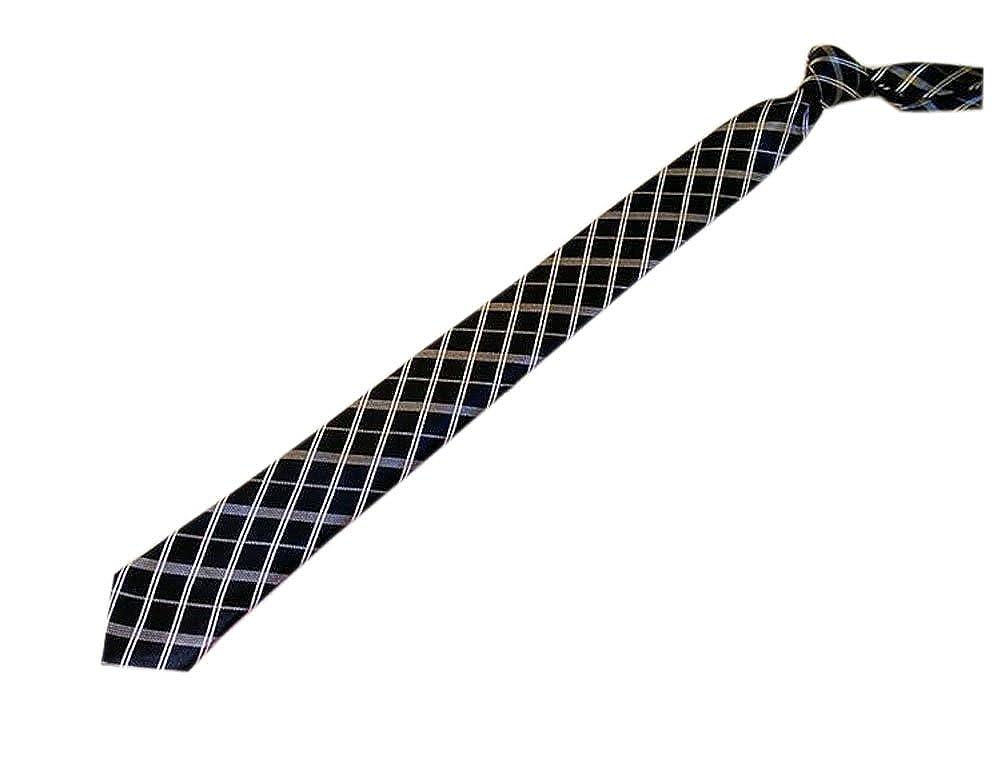 BLANCHO BEDDING Corbata modelada tela escocesa negra y blanca del ...
