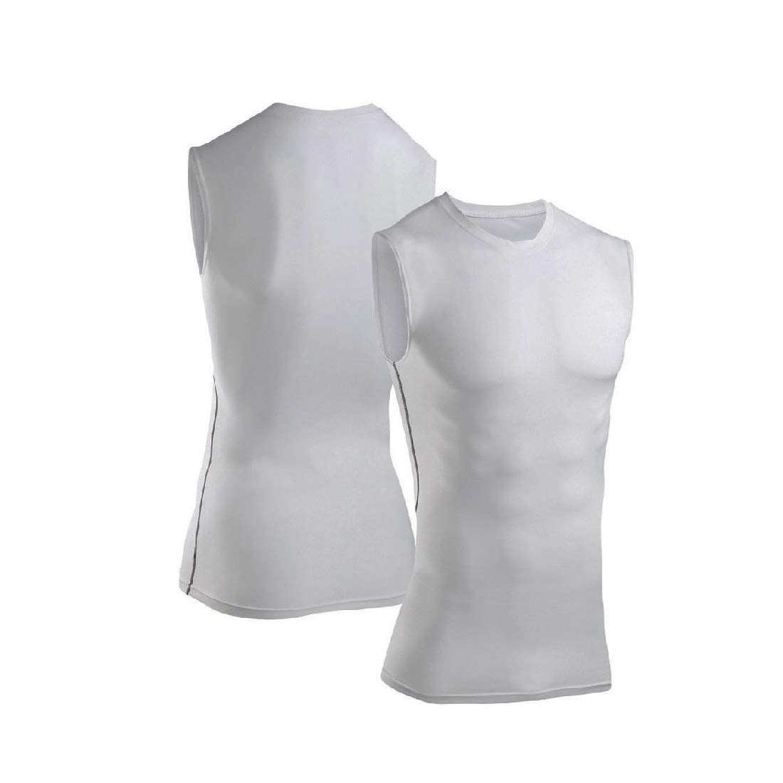 Mens Compression Tank Top Sleeveless Shirt T-Shirt Gym Clothes Base Layer Tights