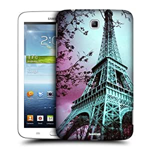 AIYAYA Samsung Case Designs Eiffel Tower Paris France Best of Places Protective Snap-on Hard Back Case Cover for Samsung Galaxy Tab 3 7.0 P3200 T210 WiFi
