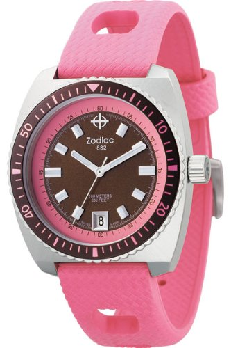 Zodiac ZO2270 - Reloj analógico de cuarzo para mujer, correa de plástico color rosa