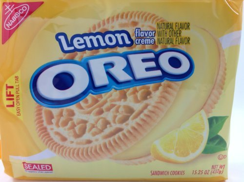 Lemon Flavor Creme Oreo Sandwich Cookies 15.25 oz, Pack of 2