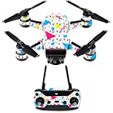 MightySkins Skin For DJI Spark Drone & Controller - 90s Fun | Protective, Durable, and Unique Vinyl Decal wrap cover | Easy To Apply, Remove, and Change Styles | Made in the USA