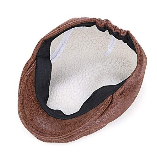 de hat Gorra Visera GLLH Hombre C Sombrero Sombreros Vintage C para de Pintor Informal de qin PU Sombrero R5AAwtx