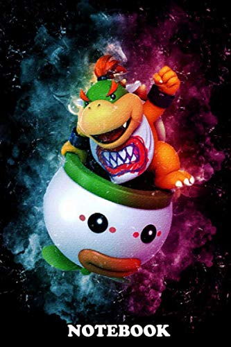 """Notebook: Bowser Jr Is A Video Game Character That Appears In Th , Journal for Writing, College Ruled Size 6"""" x 9"""", 110 Pages"""