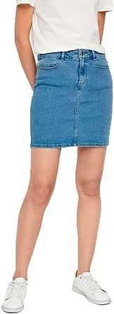 Vero Moda Vmhot Seven Mr Short Skirt Dnm Mix Noos Falda para Mujer