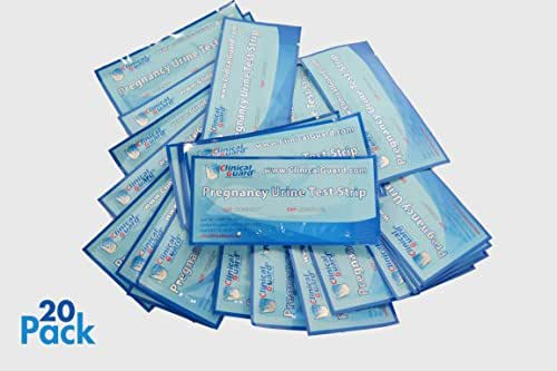 Clinical Guard HCG Pregnancy Test Strips (Individually-Sealed, Pack of 20), Blue
