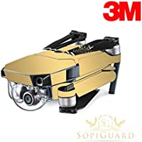 SopiGuard 3M Brushed Gold Precision Edge-to-Edge Coverage Vinyl Skin Controller Battery Wrap for DJI Mavic Pro