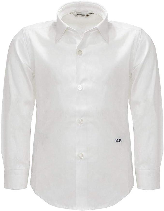 MANUEL RITZ Camisa Blanca para niño Bianco 0 cm/11 años: Amazon.es: Ropa y accesorios