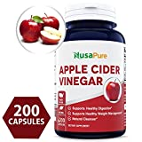 Best Apple Cider Vinegar 1000MG 200 Capsules (Non-GMO & Gluten Free) Tasteless – All Natural Detox, Digestion, Weight Management & Powerful Cleanser – Extra 1350mg Vitamin B-6 & Lecithin Review