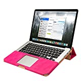 Jisoncase JS-PRO-05R33 PU Leather Shell Folio Flip Stand Book Sleeve for Apple MacBook Pro 13.3