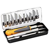 MulWark 16pc Precision Craft Hobby Utility Knife Set- Sharp Scalpel Razor Knives Tool for Architecture...
