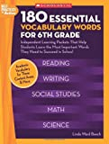 img - for 180 Essential Vocabulary Words for 6th Grade: Independent Learning Packets That Help Students Learn the Most Important Words They Need to Succeed in School book / textbook / text book