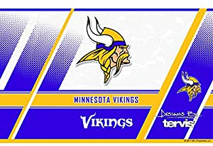 Tervis 1266663 NFL Minnesota Vikings Edge Stainless Steel Tumbler with Clear and Black Hammer Lid
