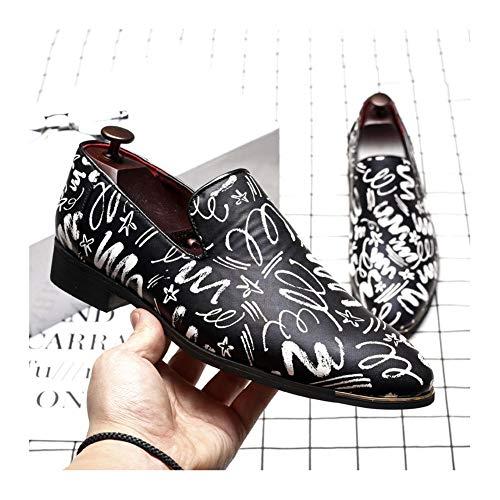 Negocios Hombres Punta Ponerse Azul de Formal Vestir Moda Zapatos Negro Cuero Zapatos de Puntiaguda Negro de los NXY 6xqwv8UE4