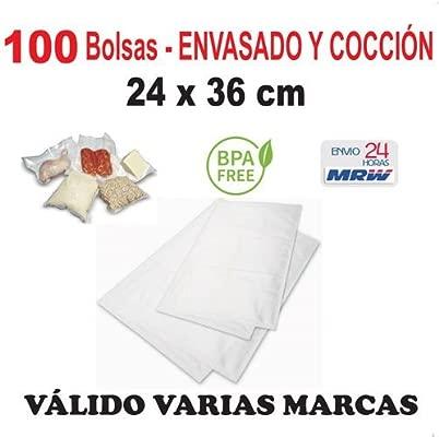 bar 100 Bolsas para cocción y envasado vacío de 24x36. Para: Aicok ...