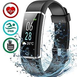 Seneo Fitness Tracker, IP68 Waterproof Activity Tracker Colo...