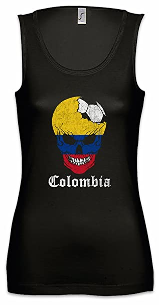Urban Backwoods Colombia Football Skull I Mujer Camiseta Sin Mangas Tank Top Sizes S - XL