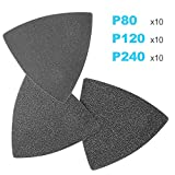 """ACTOMASTER 3-1/8"""" Triangle Sanding Pad with 30 Pcs"""