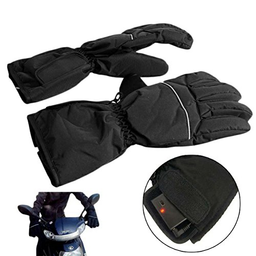 Battery Heated Gloves,Waterproof &Windproof Full-fingered Warm Winter Gloves Suit for Outdoor Driving,Riding and Skiing for Man&Women Unisex Heated Gloves