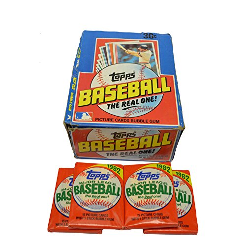 1982 Topps Baseball Card 3 Wax Pack Set