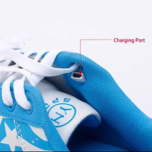 (Presente:pequeña toalla)JUNGLEST USB Carga de la Zapatilla Zapatillas de Deporte Con 7 Colores de Iluminación LED Intermitente Para los Amantes de N c23