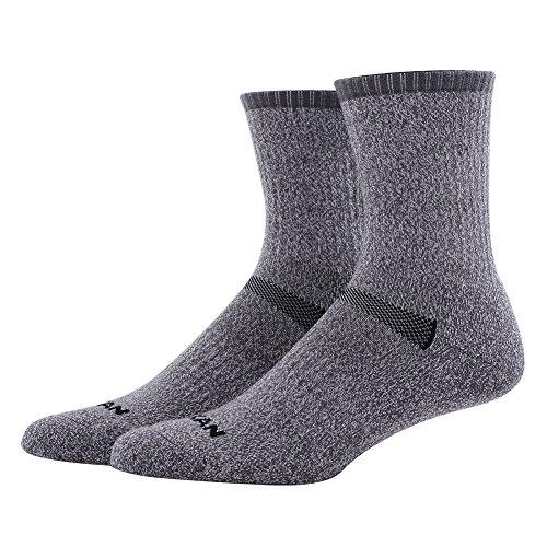 Hiking Socks Merino Wool, MEIKAN Mens Cushion Trekking Outdoors Crew Socks 1, 3, 4, 6 Pairs