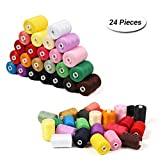 HAITRAL Sewing Thread, 24 Spools 1000 Yards Polyester DIY Premium Sewing Supplies sewing kit for Beginners, Emergency, Sewing Machine