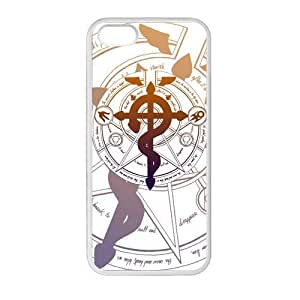 Hot Anime Fullmetal Alchemist Cool Logo Cover Case for iPhone 5/5s (Laser Technology) hjbrhga1544