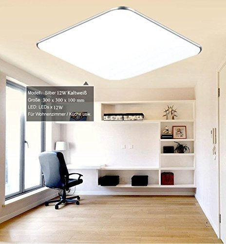Lieblich 24W Warmweiß LED Modern Deckenlampe Ultraslim Deckenleuchte Schlafzimmer  Küche Flur Wohnzimmer Lampe Wandleuchte Energie Sparen Licht ...